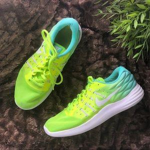 Nike Neon Green + Sky Blue Sneakers Size 9